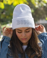 Blk Boss Baseball Tee Knit Beanie garment-embroidery-beanie-lifestyle-07