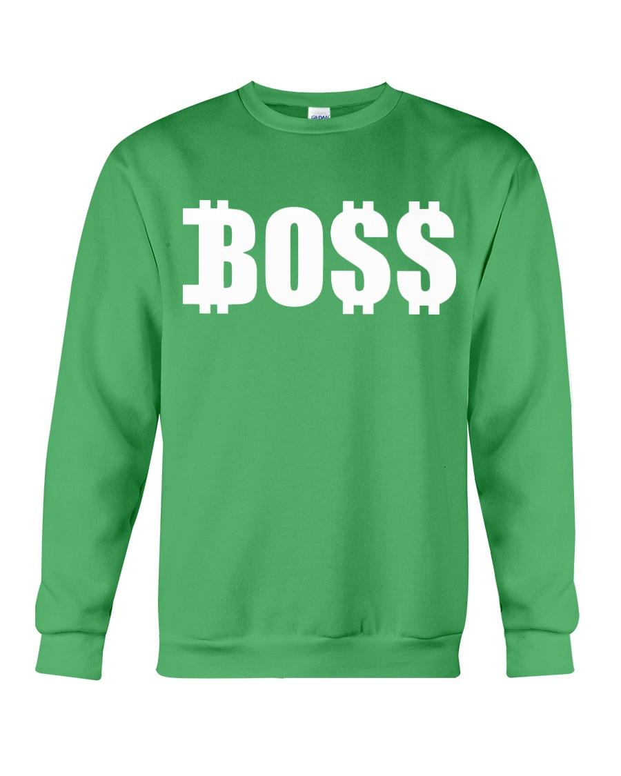Boss White Crewneck Sweatshirt