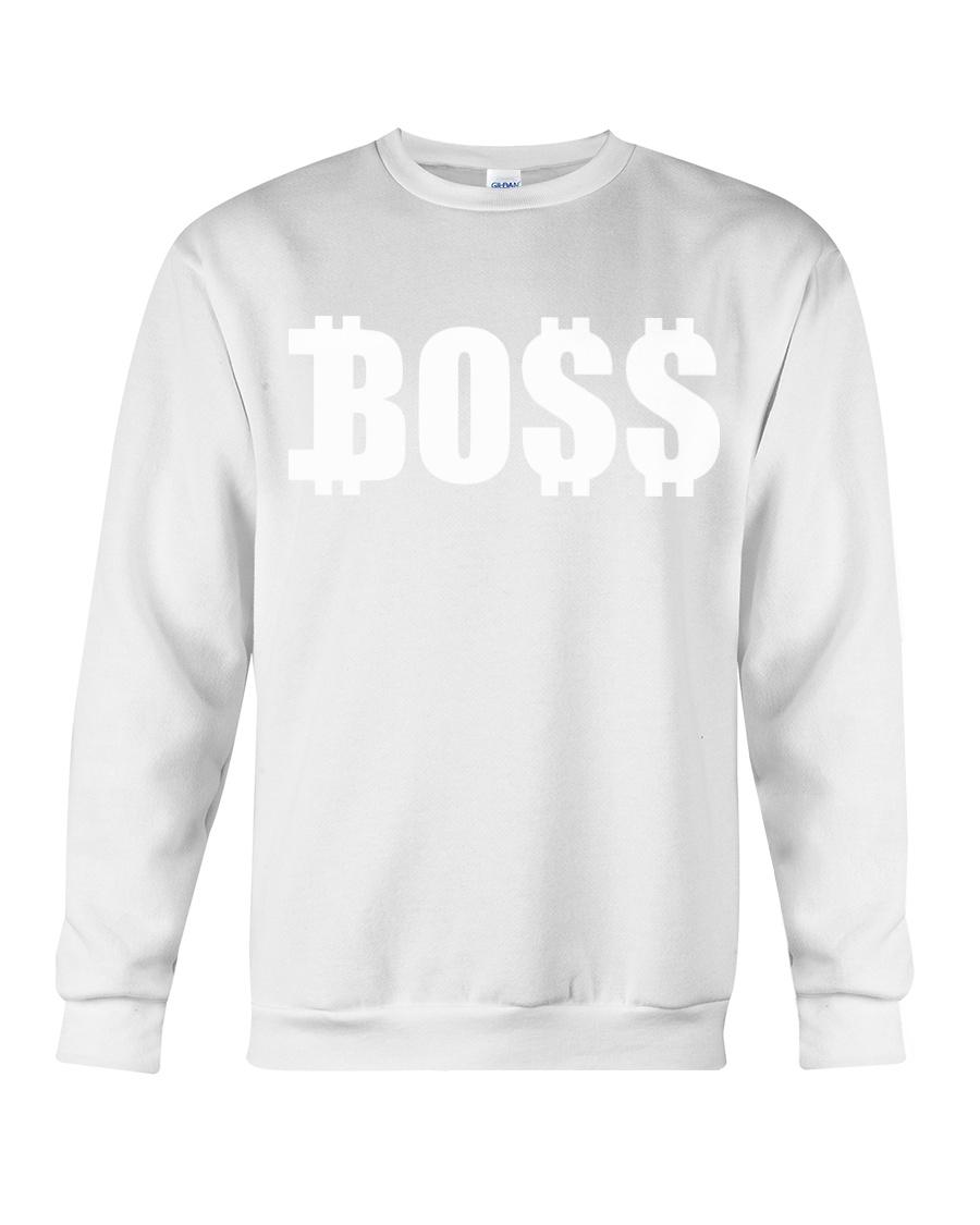 Boss White Crewneck Sweatshirt