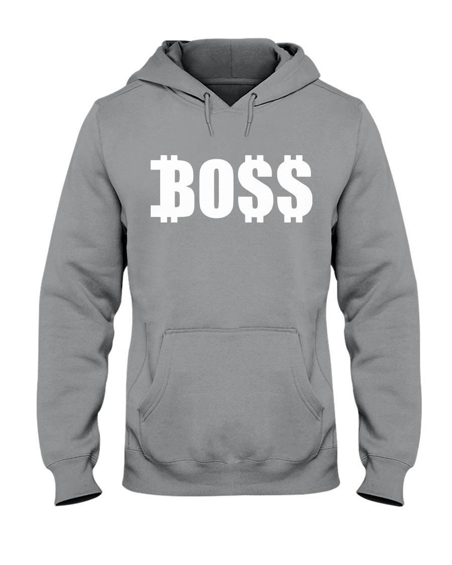 Boss White Hooded Sweatshirt