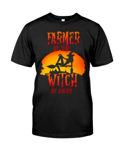 Farmer by Day Witch by Night T-shirt