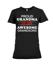 Proud Grandma of Two Awesome Grandsons Premium Fit Ladies Tee thumbnail