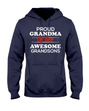 Proud Grandma of Two Awesome Grandsons Hooded Sweatshirt thumbnail