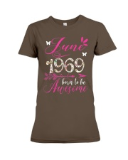 WOMENS MADE IN JUNE 1969 FLORAL T SHIRT 50 BORN TO Premium Fit Ladies Tee thumbnail
