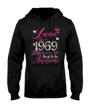 WOMENS MADE IN JUNE 1969 FLORAL T SHIRT 50 BORN TO Hooded Sweatshirt thumbnail