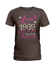 WOMENS MADE IN JUNE 1969 FLORAL T SHIRT 50 BORN TO Ladies T-Shirt thumbnail