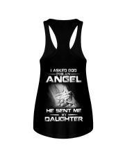 I Asked God For An Angel He Sent Me My Daughter  Ladies Flowy Tank thumbnail