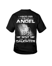 I Asked God For An Angel He Sent Me My Daughter  Youth T-Shirt thumbnail