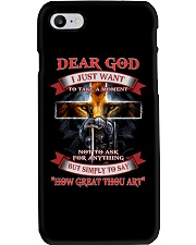 Dear God i Just want to say Phone Case thumbnail