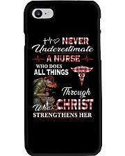 Never Underestimate a Nurse Phone Case thumbnail