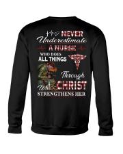 Never Underestimate a Nurse Crewneck Sweatshirt thumbnail