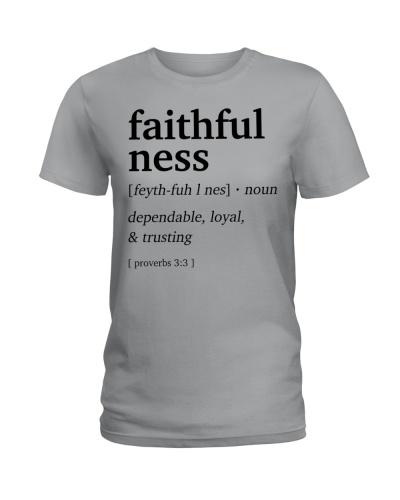 Faithful ness Definition Bible Verse