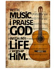 Guitar With Music I pray God Vertical Poster tile