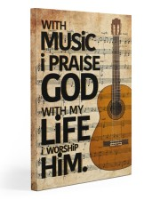 Guitar With Music I pray God 20x30 Gallery Wrapped Canvas Prints front