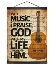 Guitar With Music I pray God 12x16 Black Hanging Canvas thumbnail