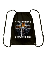 A Praying Man Is A Powerful Man Drawstring Bag thumbnail