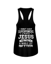 I Don't Have Superpowers I Have Jesus Ladies Flowy Tank thumbnail