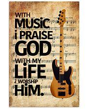 With Music I Praise God  Bass Guitar 11x17 Poster thumbnail
