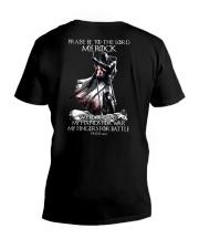 praise be to the lord Kight Templar V-Neck T-Shirt thumbnail
