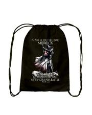 praise be to the lord Kight Templar Drawstring Bag thumbnail
