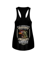 Never Underestimate  A Pharmacist Ladies Flowy Tank thumbnail