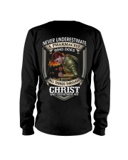 Never Underestimate  A Pharmacist Long Sleeve Tee thumbnail