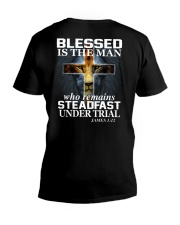 Blessed Is The Man V-Neck T-Shirt thumbnail