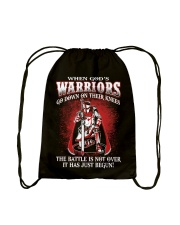 when god warrior go down Drawstring Bag thumbnail