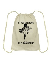 It's Not A Religion It's A Relationship Drawstring Bag thumbnail