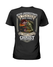 Never Underestimate  A Teacher Ladies T-Shirt back