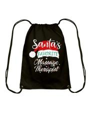 Santa's Favorite Massage Therapist  Drawstring Bag thumbnail