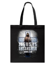 Jesus Is The Answer Tote Bag thumbnail