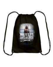 Jesus Is The Answer Drawstring Bag thumbnail