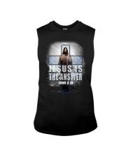 Jesus Is The Answer Sleeveless Tee thumbnail