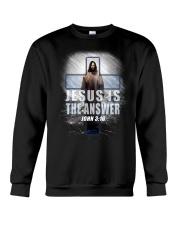 Jesus Is The Answer Crewneck Sweatshirt thumbnail
