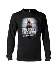 Jesus Is The Answer Long Sleeve Tee thumbnail