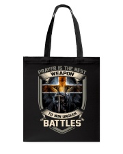 Prayer Is The Best Weapon Tote Bag thumbnail