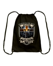 Prayer Is The Best Weapon Drawstring Bag thumbnail