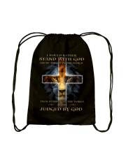 I Would Rather Stand With God Drawstring Bag thumbnail