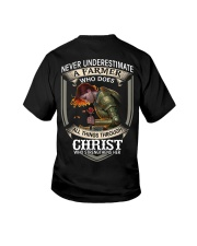 Never Underestimate  A Farmer Youth T-Shirt thumbnail