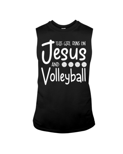 This Girl Runs On Jesus And Volleyball