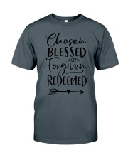 Chosen Blessed Forgiven Redeemed Classic T-Shirt thumbnail