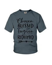 Chosen Blessed Forgiven Redeemed Youth T-Shirt thumbnail