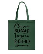 Chosen Blessed Forgiven Redeemed Tote Bag thumbnail