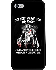 Do Not Pray For An Easy Life Phone Case tile