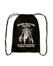 Do Not Pray For An Easy Life Drawstring Bag tile
