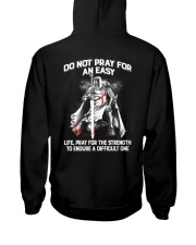 Do Not Pray For An Easy Life Hooded Sweatshirt tile