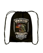 Never Underestimate a Nurse Drawstring Bag thumbnail