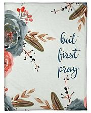 "But First Pray Small Fleece Blanket - 30"" x 40"" thumbnail"