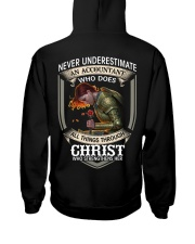 Never Underestimate  An Accountant Hooded Sweatshirt thumbnail